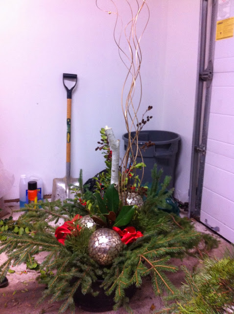 Christmas, decorating, arrangement