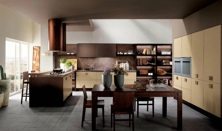 ... Kitchens - The Blog: Brown and Cream Modular Kitchen by Scavolini