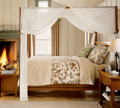 Lovely Shabby Chic Styled Bedroom With A Unique Canopy Frame The Hats
