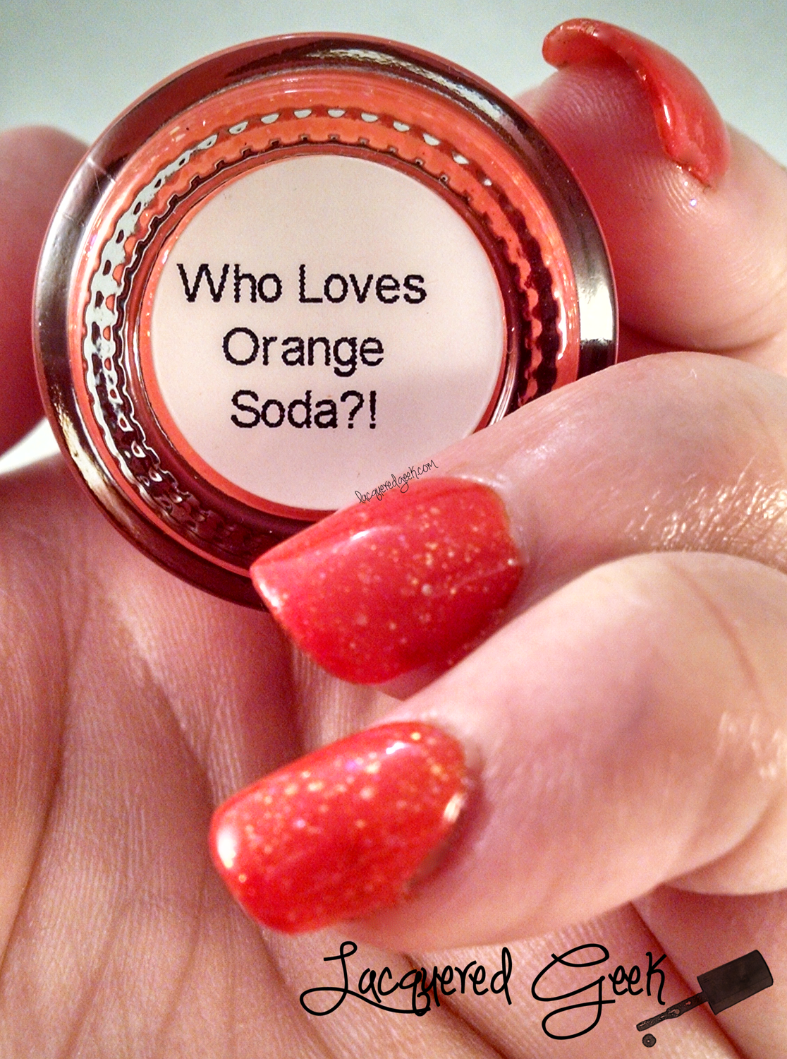 Pahlish Who Loves Orange Soda? nail polish swatch