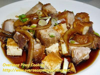 Crispy Tokwa't Baboy, Crspy Fried Pork with Tofu