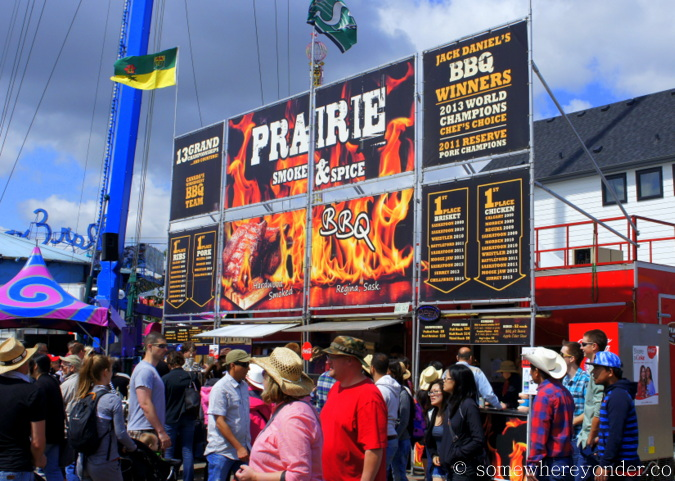 Amercian style BBQ at the 2015 Calgary Stampede, Canada