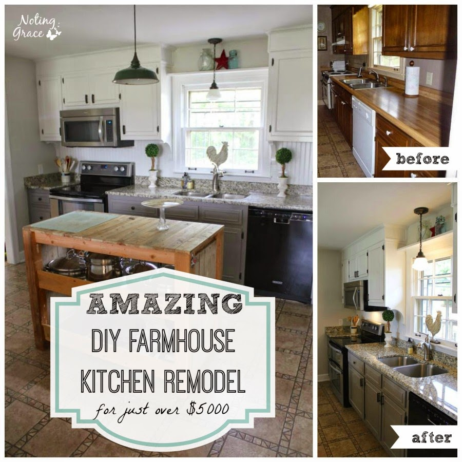 Noting Grace- Farmhouse Kitchen Makeover-Treasure Hunt Thursday- From My Front Porch To Yours
