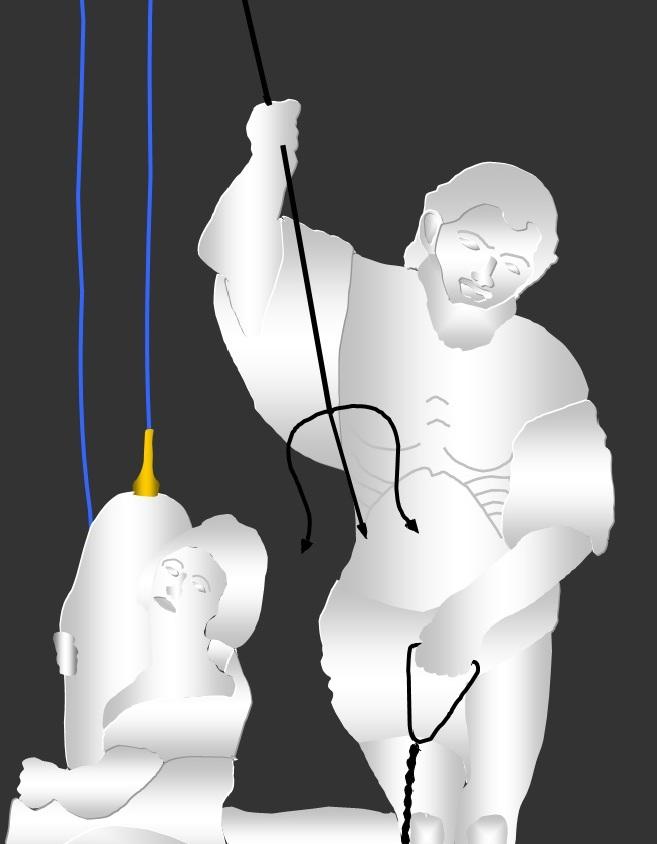 Escultura de Neptuno. Priego