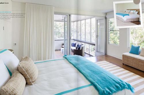 Dormitorios en color turquesa y blanco ideas para - Como se hace el color turquesa ...