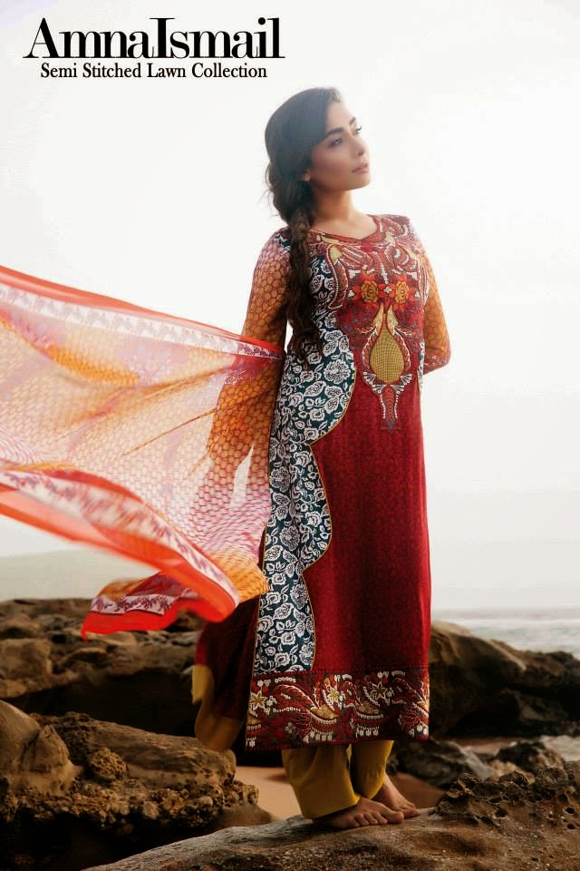 Amna Ismail Semi Stitched Lawn Collection 2014