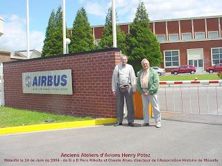 Pere Ribalta i Claude Alves a le sportes d'Airbus de Méaulte.