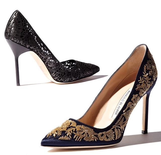 Manolo Blahnik Fall 2014 pumps, baroque jewel encrusted shoes