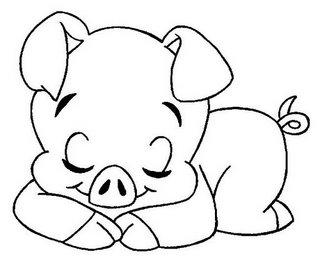 riscos para pintura de porquinhos