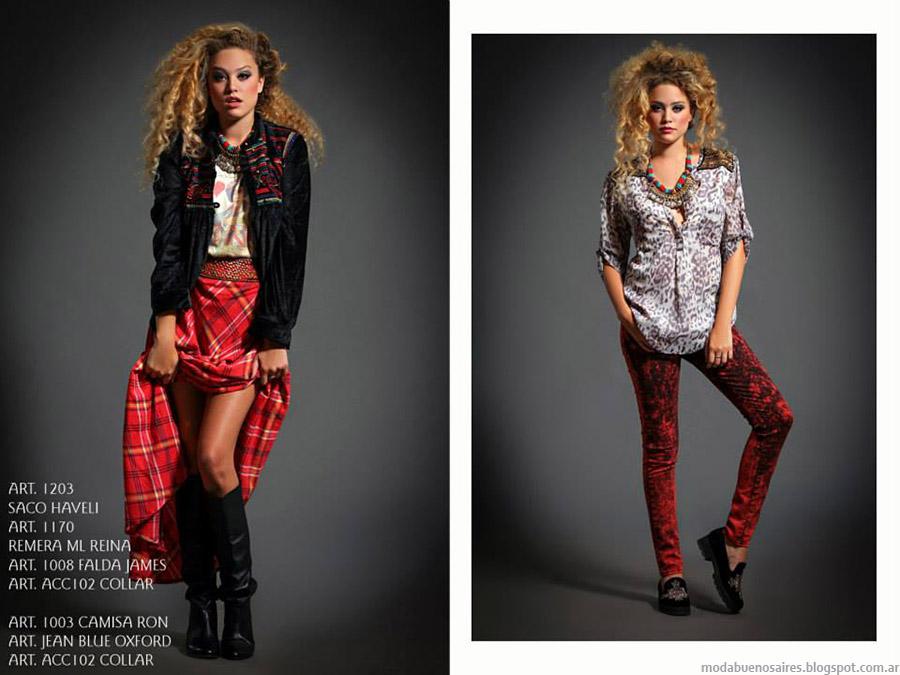 Looks otoño invierno 2015. Moda invierno 2015 faldas y leggings.