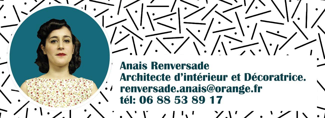 anais renversade, Architecture d'intérieur languedoc roussillon