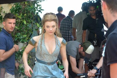 Margaery Tyrell Natalie Dormer rodaje cuarta temporada Juego de Tronos - Juego de Tronos en los siete reinos