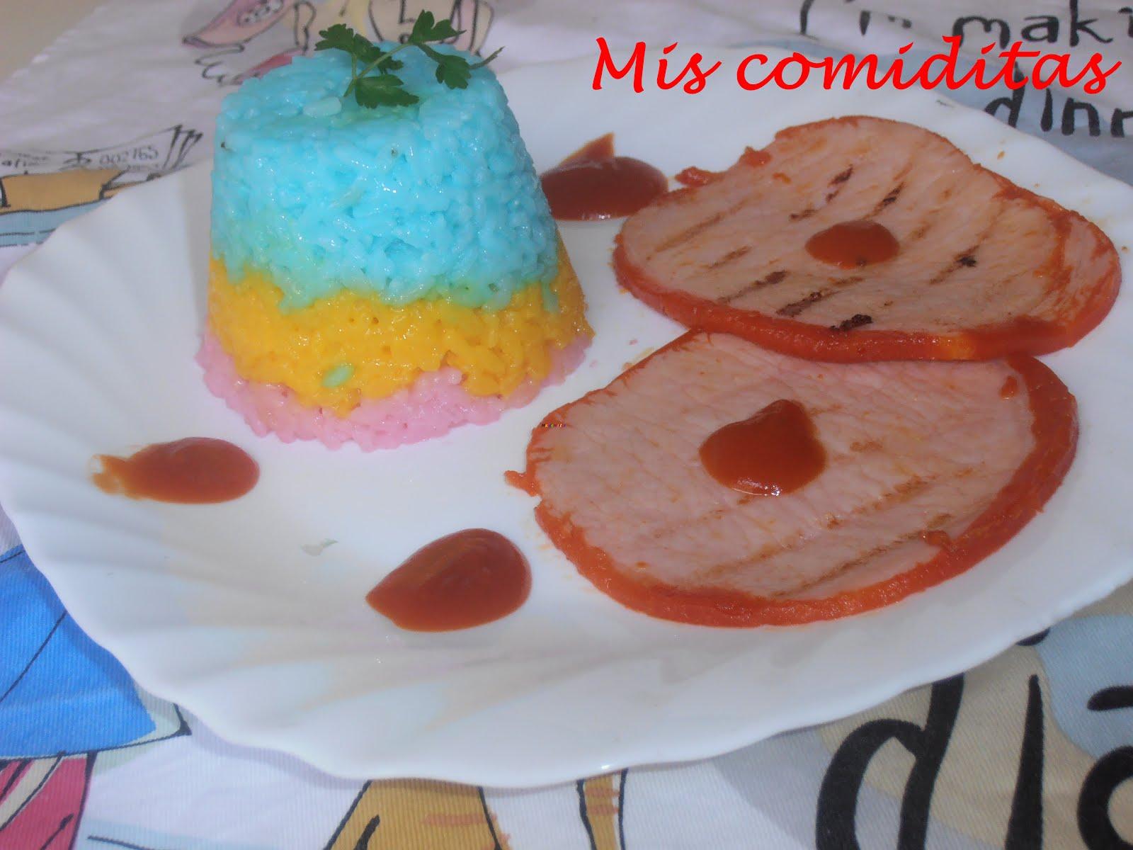 Mis comiditas arroz blanco a color for Arroz blanco cocina al natural
