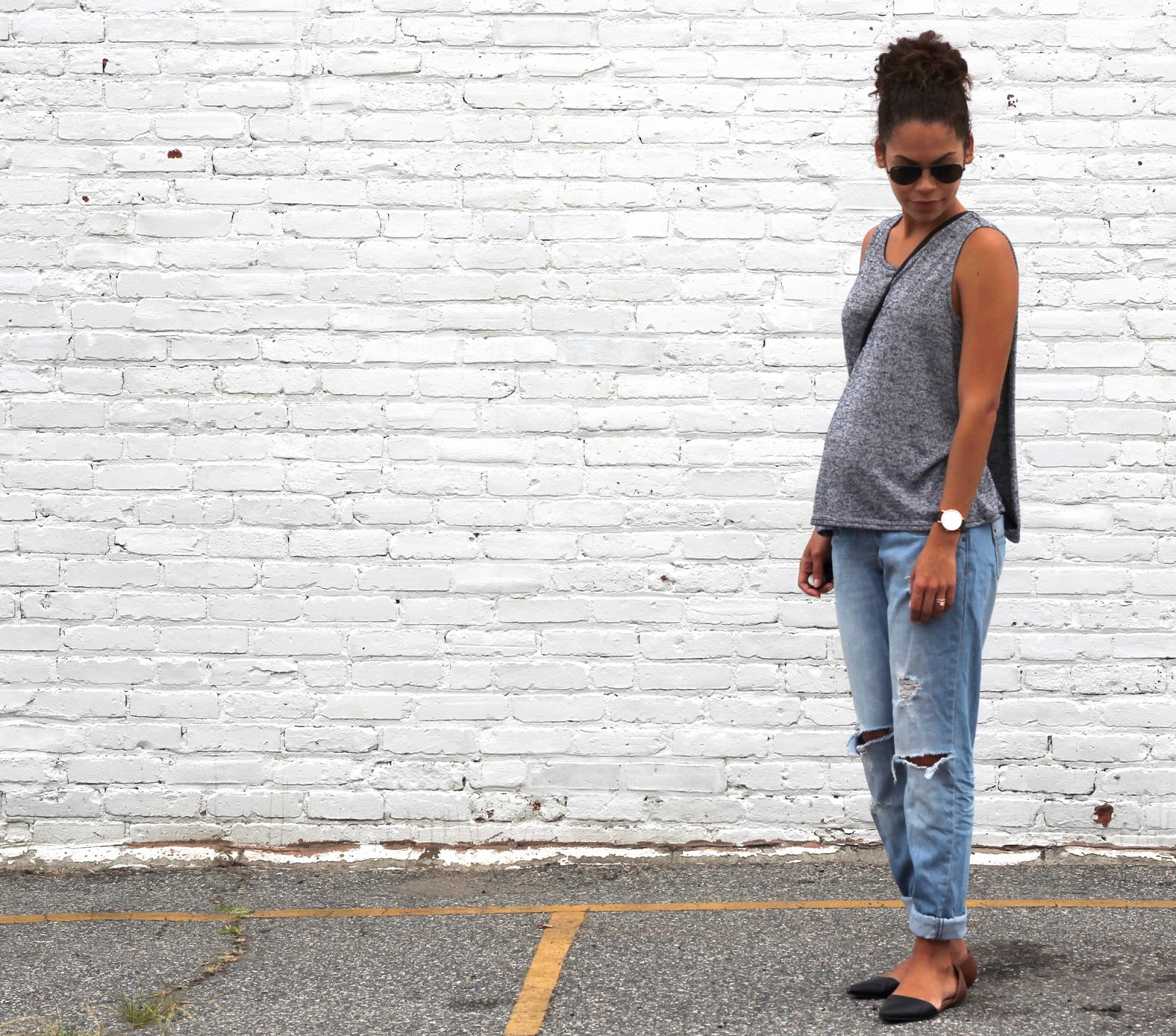 A LITTLE BIT OF LACQUER: Maternity Boyfriend Jeans