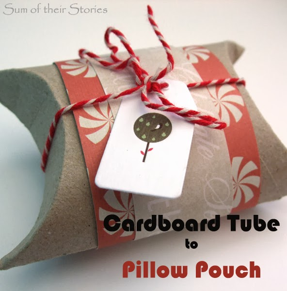 Pillow Pouch from cardboard tube