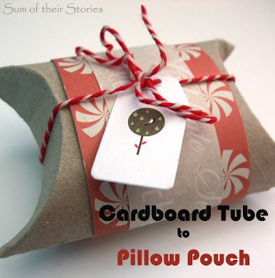 How to make a Cardboard Tube into Pillow Pouch