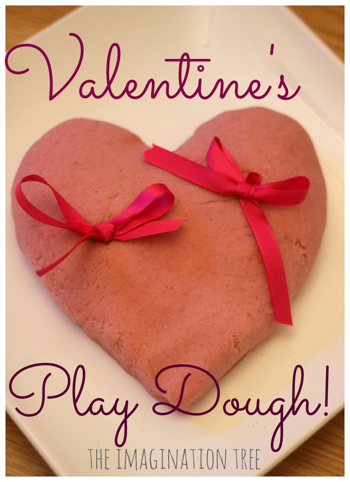 Raspberry Jelly Valentines Play Dough