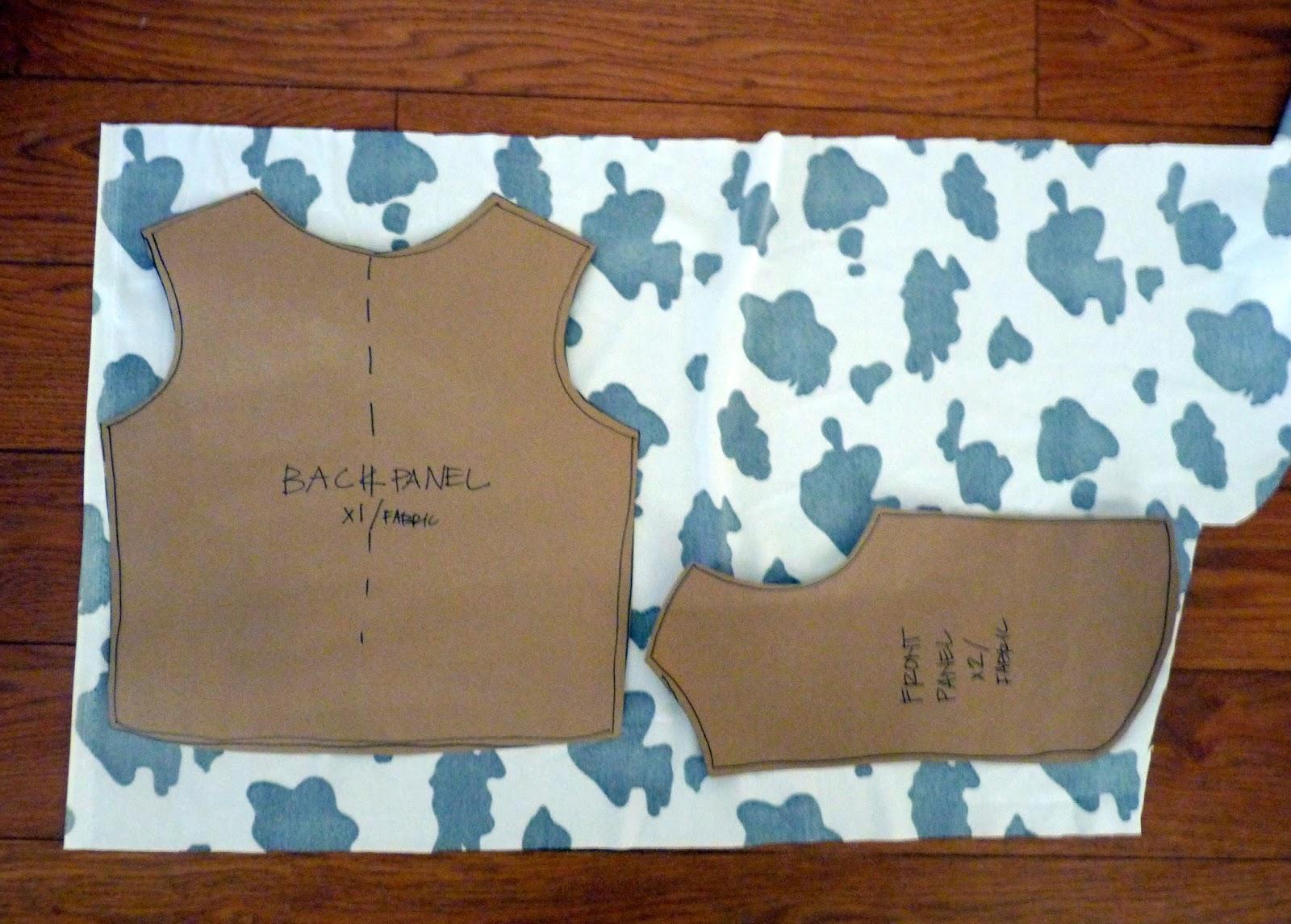 Free Crochet Pattern Cowboy Vest : Cowboy Vest Template images