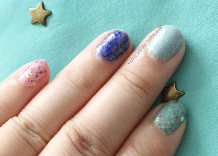 Easter nails created with Modi nail polishes