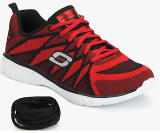 Skechers Propulsion Red Running Shoes