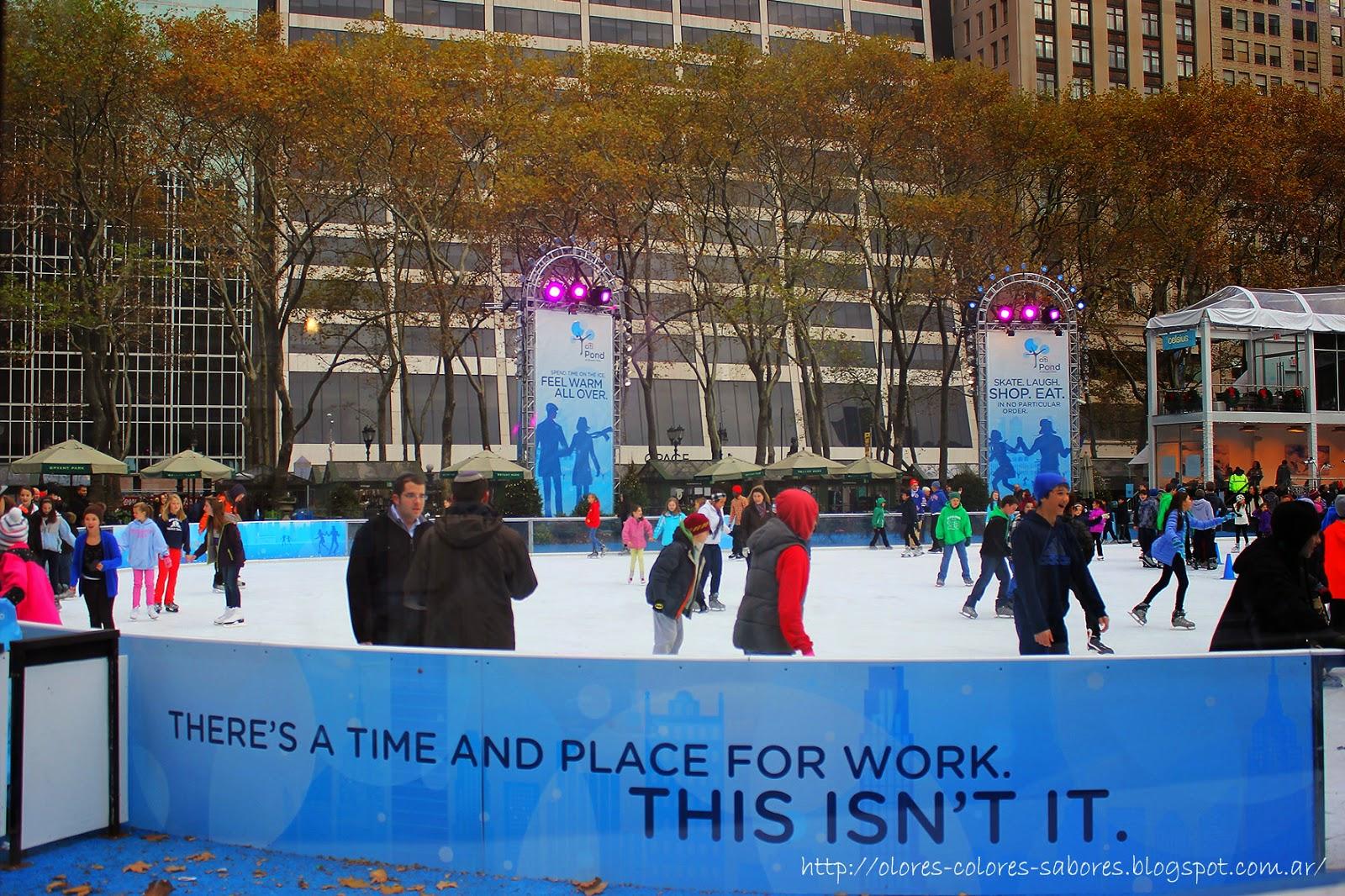 Patinaje sobre hielo en Bryant Park