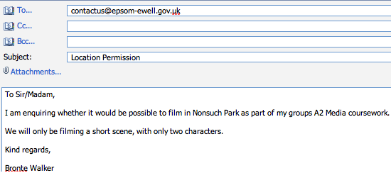 Permission For Use Of Morden Park
