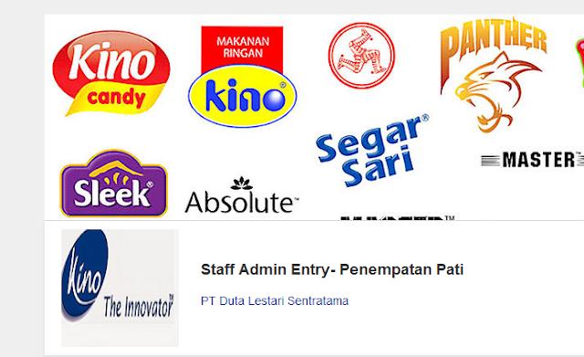 Lowongan Kerja Staff Admin Entry PT Duta Lestari Sentratama Pati Januari 2016