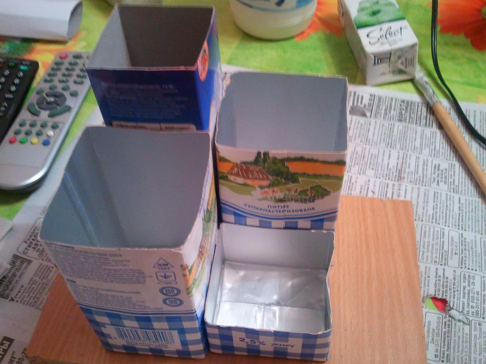 Поделки из пакетов молока своими руками