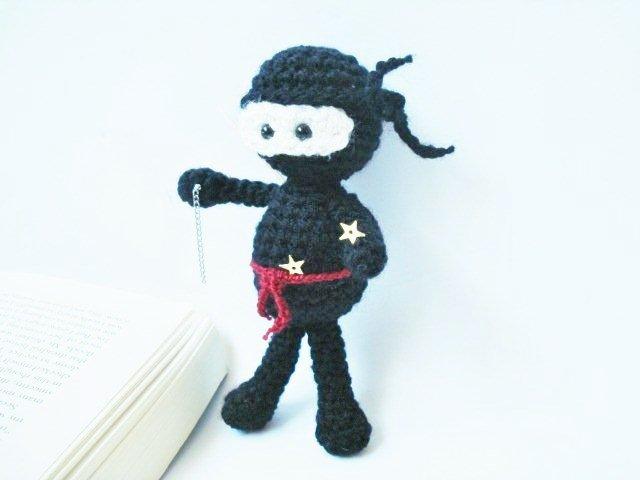 Ninja Amigurumi Free Pattern : AllSoCute Amigurumis: Amigurumi Crochet Black Ninja Pattern