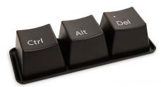 Mugs Clavier + plateau: idée cadeau originale set de 3 tasses en forme de touches de clavier CTRL, ALT, DEL geek design