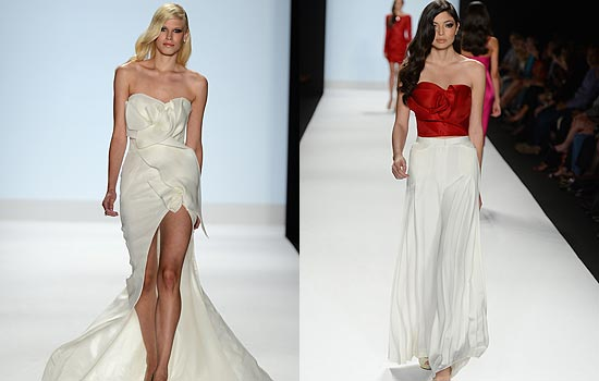 Ven Budhus NY Fashion Week Finale Collection Of Origami Flower Girls