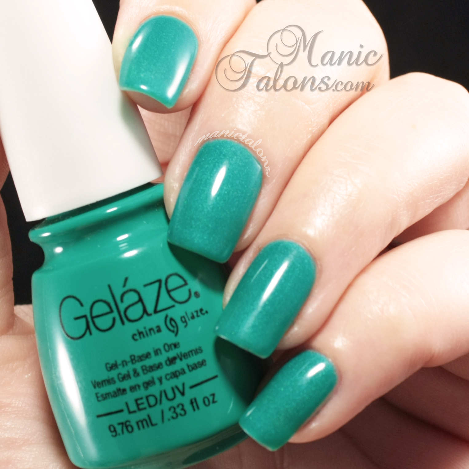 China Glaze Gelaze Gel Polish Turned Up Turquoise Swatch