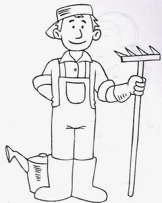 Dibujos para colorear maestra de infantil y primaria el for Trabajo jardinero