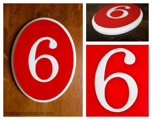 That 39 s my letter d is for diy house number plaque for Classic house number plaque