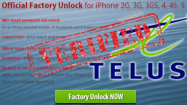 Factory IMEI unlock iPhone