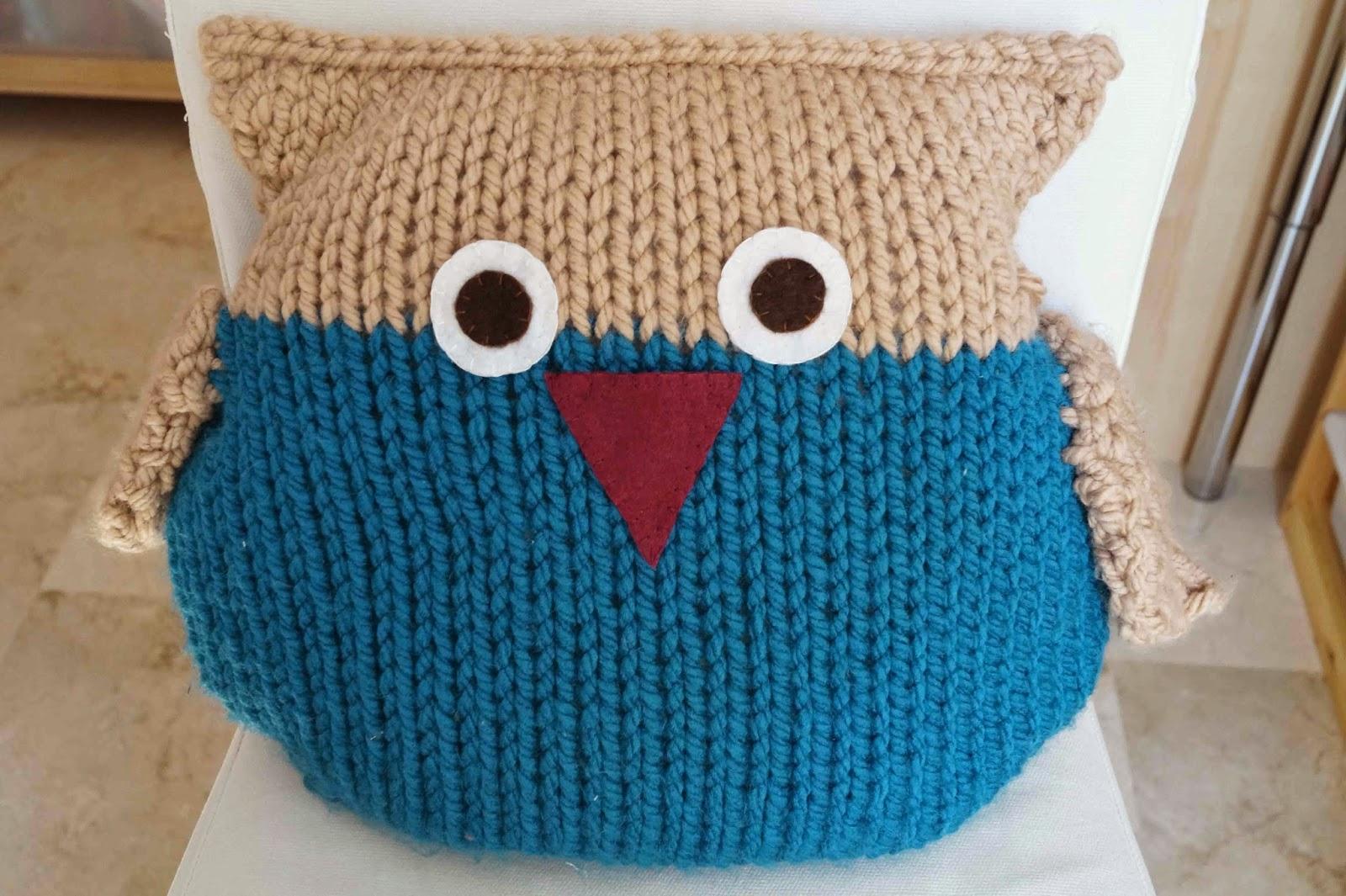 Deshilachado: Patrón: almohadón búho de punto / Pattern: knitted owl ...
