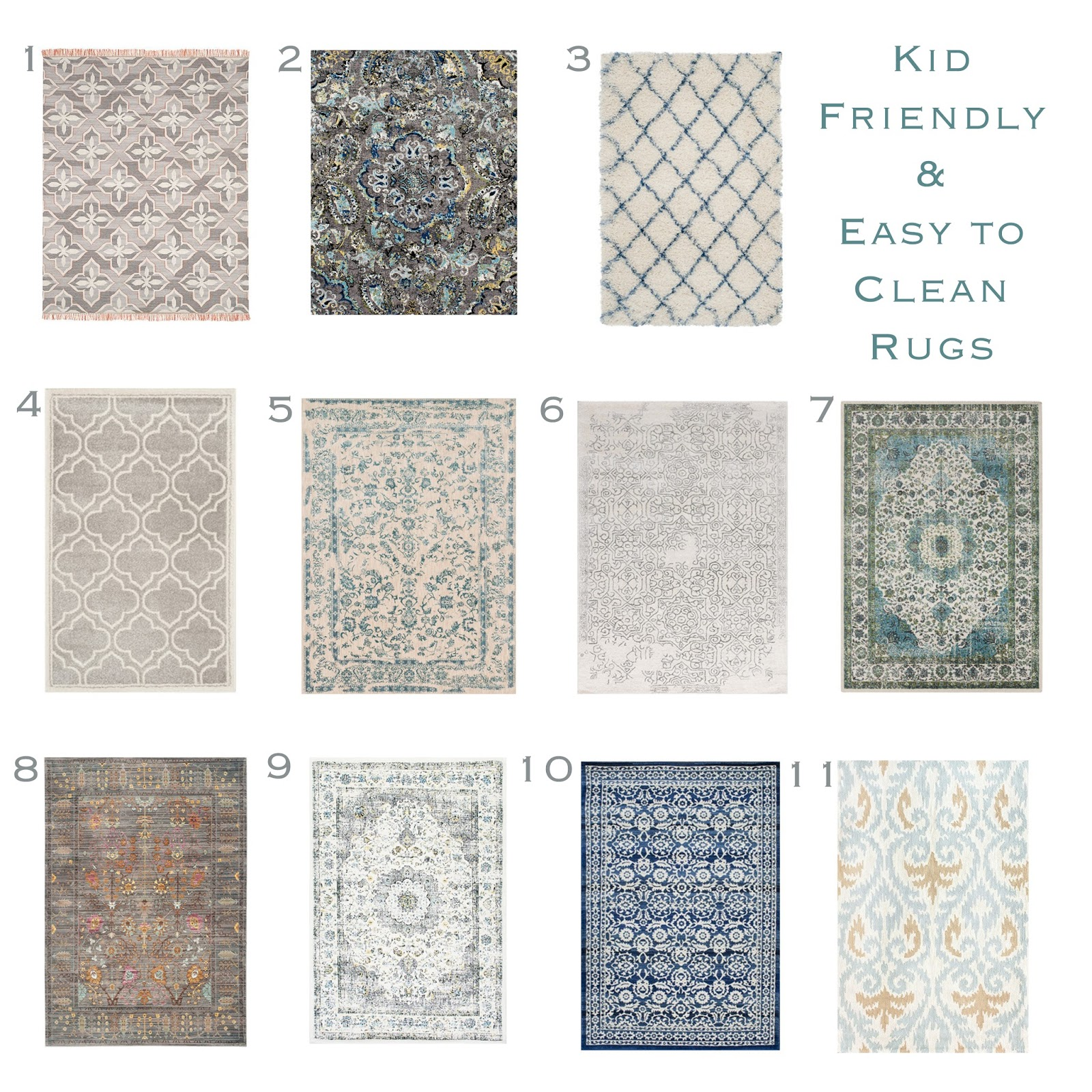 Kid Friendly Rug Round Up Sita Montgomery Interiors