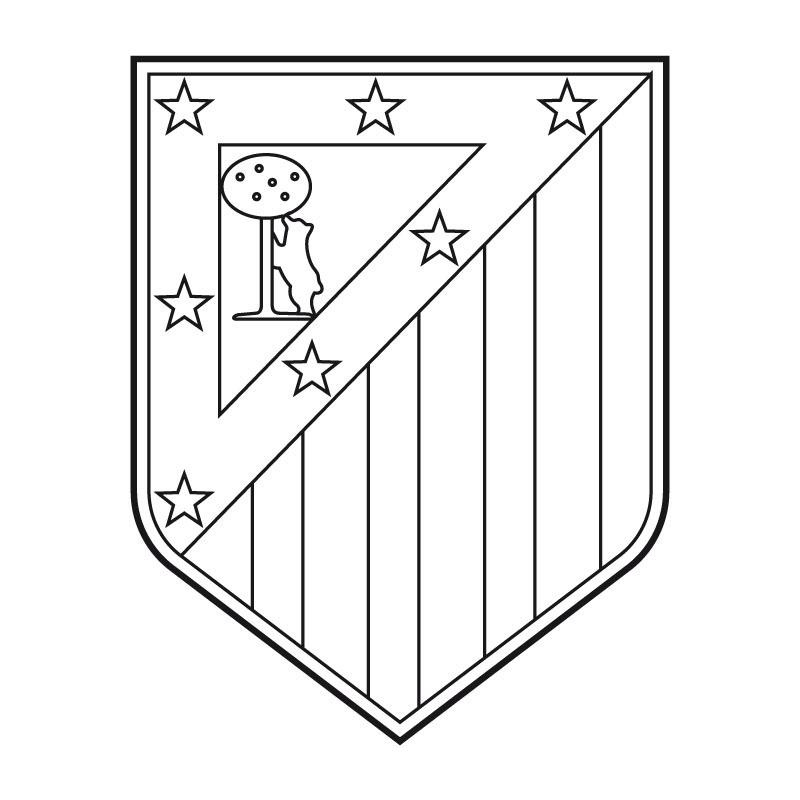Escudos de fútbol para colorear - MI AULA VIRTUAL