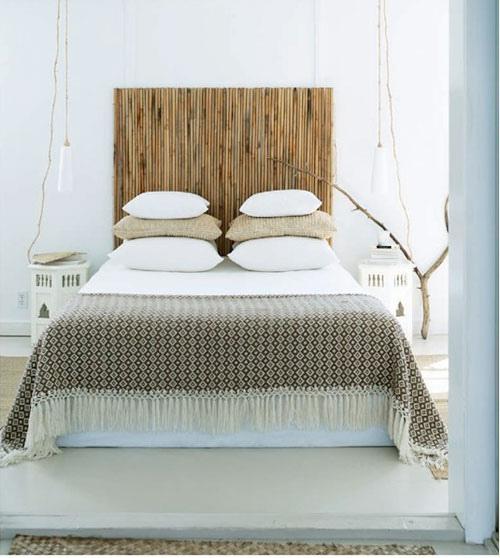 Ideas originales para cabeceros reciclando decorar tu - Cabecero de bambu ...