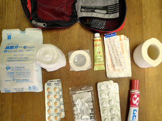 ポーチの中の薬たち