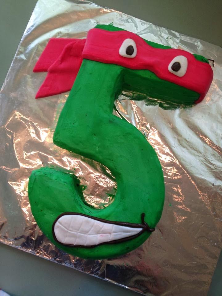 Ninja Turtle Head Cake One Number 5 Ninja Turtle Cake