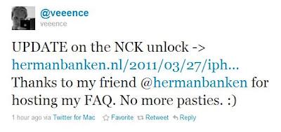 Veeence zum NCK-Unlock