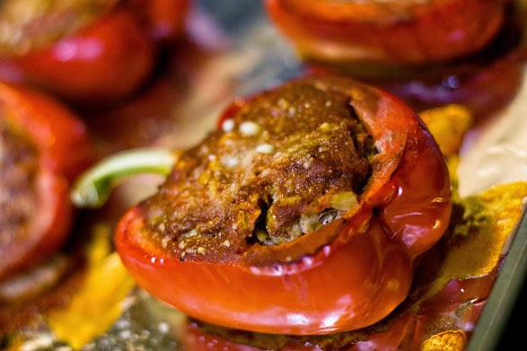 Think I Can Moms: Low Carb Stuffed Bell Peppers