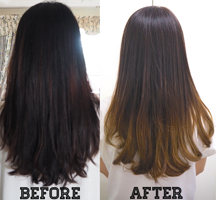 The Comb Hair Studio Hair Coloring Bleach Ash Brown Ombré Hair Review Lunarrive Singapore Lifestyle Blog