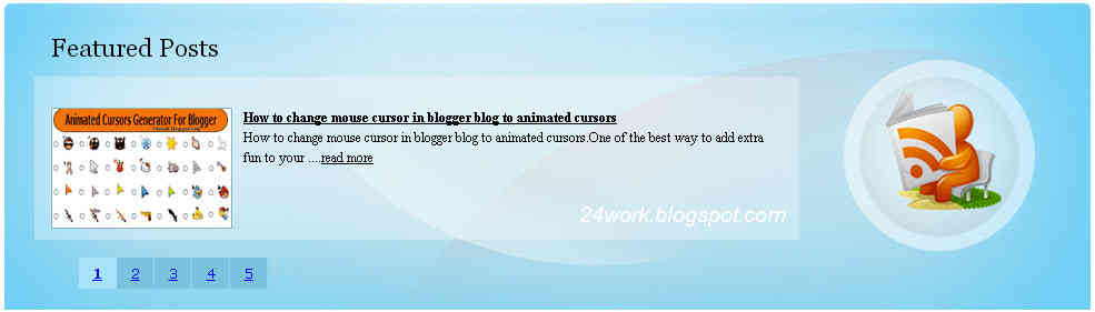 How To Add Auto Featured Posts Using JQuery Slider To Blogger