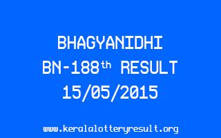 BHAGYANIDHI BN 188 Lottery Result 15-5-2015