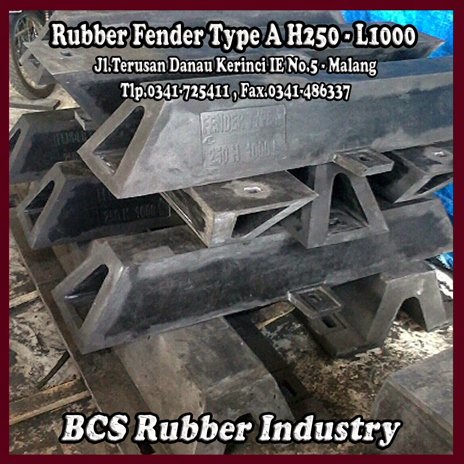 RUBBER FENDER TYPE A – BOTTOM STEEL PLATE