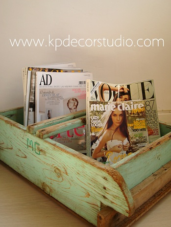Kp tienda vintage online comprar revistero vintage buy for Articulos vintage decoracion