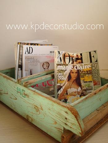Venta de revisteros antiguos-vintage-madera. Estilo nordico y rústico