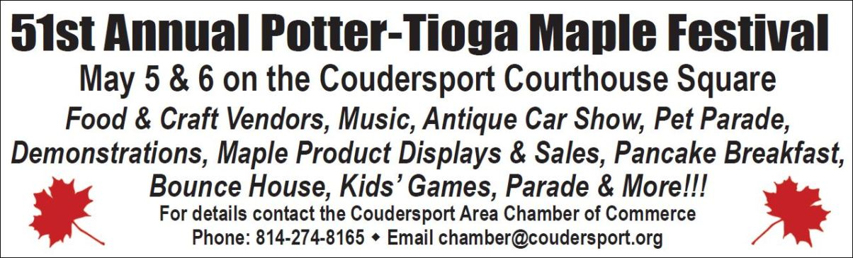 51St Annual Potter-Tioga Maple Festival